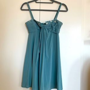 BCBG beaded seafoam color dress